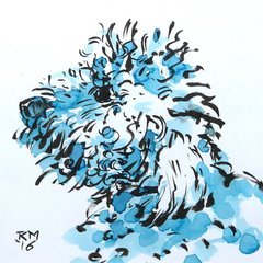 Day-Z dogstar dog pooch drawing portrait rob macgillivray Bond